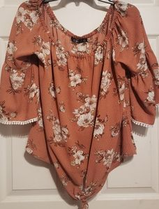 Off the Shoulder Tie top by CURE.